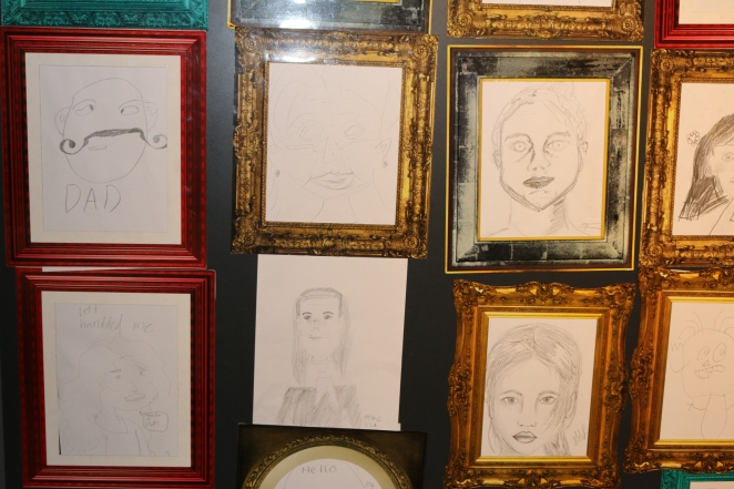 Can you guess which one is my self portrait, hanging in the National Museum of NZ?