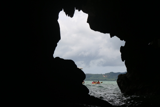 Photo from inside cave